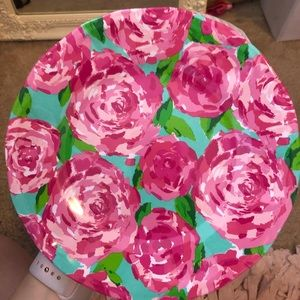 Lily Pulitzer Hot Pink First Impression Plates